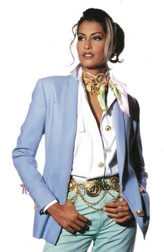 YASMEEN GHAURI for Gianni Versace Couture 90's