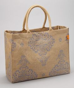 Look what I found on #zulily! Periwinkle Blue Jute Market Tote by Bring It #zulilyfinds