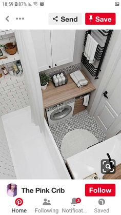 Interior Living Room Design Trends for 2019 - Interior Design Laundry Room Bathroom, Tiny House Bathroom, Laundry Room Design, Bathroom Design Small, Bathroom Interior Design, Modern Bathroom, Interior Design Living Room, Bad Inspiration, Bathroom Inspiration