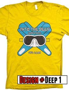 Deep Sea VBS t-shirts.  We offer FREE shipping on all VBS orders.  All shirts are designed to be customized for your VBS program- choose shirt color, design colors, church name, tag line and/or verse.
