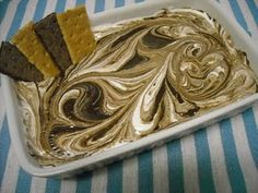 S'mores Dip!  1 can sweetened Condensed Milk   1 1/2 cups Chocolate Chips   1/2 cup marshmallow cream   Graham Cracker
