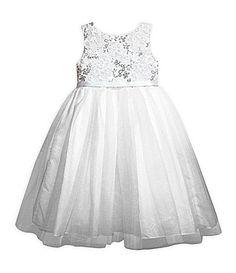 Pippa and Julie 710  SequinEmbellished Ballerina Dress #Dillards