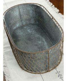 Look at this #zulilyfind! Oval Bucket Mesh Holder by Save On Crafts #zulilyfinds