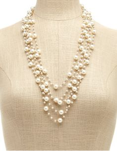 layered pearl necklace, style, pearl strand, strands, pearls, strand necklac, pearl necklaces, layer pearl, jewelri