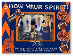 We have just about every shade to suit your game day style at Atlanta West Jewelry . Which team colors will you be sporting this season? #KendraScott #GameDay #Auburn #Tigers #Football   Call us TODAY: (770) 489-8600