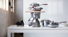 SENSUELL stainless steel cookware simplifies everyday cooking and has a design that works for both cooking and serving.