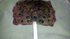 Peacock Feather Hand Fan