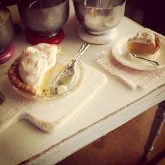 Lemon pie love..,,.,dollhouse miniatures by Kim Saulter