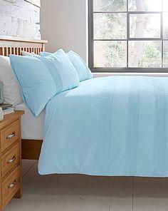 Plain Dye Cotton Pleat Duvet Cover Set | Home Essentials