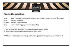 toasted sesame kale salad