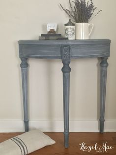 Furniture With Free Delivery Code: 3878450669 Furniture Makeover, Painted Furniture, Annie Sloan Painted Furniture, Home Decor Styles, Furniture, Half Moon Table, Furniture Side Tables, Vintage Inspired Decor, Shabby Chic Furniture