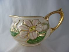 Vintage Coffee Cream Pitcher Vintage Magnolia by TheMichiganAttic