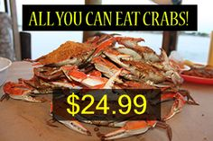 All you can eat crabs and corn on the cob at Captain Tyler's Crabhouse in Crisfield Md priced @ $24.99! Smith Island, Island Cruises, Chesapeake Bay, Crabs, Ocean City, Day Trips, Baltimore, Maryland, Coastal
