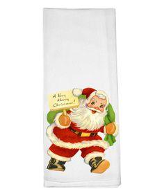 Love this Vintage Santa Dishtowel on #zulily! #zulilyfinds