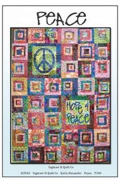 I love the muted batiks on this Peace Quilt Pattern from Saginaw St Quilt Co Quilting Peace Sign Batiks   eBay