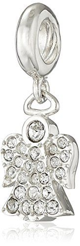 Chamilia Sterling Silver and Swarovski Crystal Angel Bead Charm *** LEARN MORE @ http://splendidjewelry4u.com/chamilia-sterling-silver-and-swarovski-crystal-angel-bead-charm/?a=0328