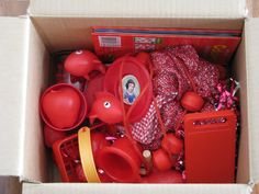 A List of RED Colour activities such as make a RED Discovery Box {learning4kids}