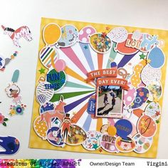 """Virginia Walker on Instagram: """"New #12x12layout today featuring the super fun balloon border #cutfile and the balloons from the celebration cutfile from #coapacutfiles I…"""" Birthday Scrapbook Pages, The Balloon, Amusement Park, Virginia, Balloons, Celebration, Paper, Fun, Instagram"""