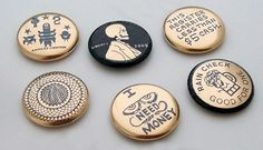 24k gold buttons from Busy Beaver Button Co.