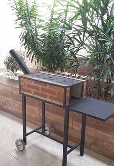 Interior Design Kitchen, Interior Decorating, Brick Bbq, Fire Pit Grill, Outdoor Stove, Cool Fire Pits, Rustic Patio, Roof Design, Design Design