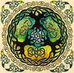 ⊰❁⊱ Mandala ⊰❁⊱ Yggdrasil es el Árbol Mundial de la Mitología nórdica, el árbol…