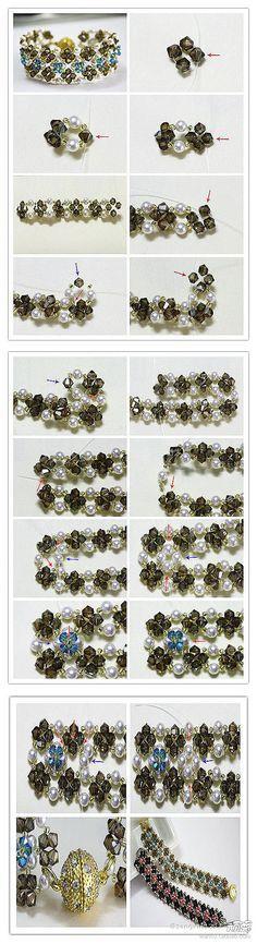beads bracelet Buy Swarovski Crystals @ http://www.crystal-beads.co.uk/swarovskielements/6-swarovski-crystal-beads-pearls