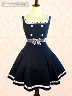 I've wanted a nautical themed dress for a bit now.  This is really cute and very vintage.