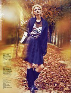 Maria Loks for Stylist France (24th October 2013) photo shoot by Marcin Tyszka #MarcinTyszka, #MariaLoks, #Stylist #Editorials