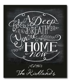 You're Home... ~Personalized Canvas Wall Art | zulily
