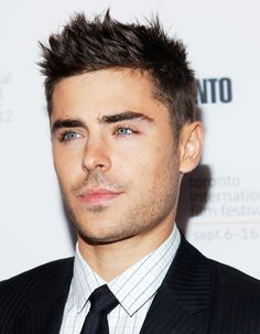 Zac Efron Short Hair | Spiky Mens Hairstyles
