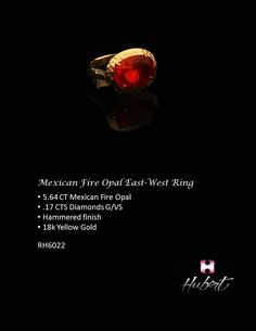 RH6022-Mexican Fire Opal- East-West ring