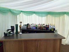 Our handmade wooden wedding bar.