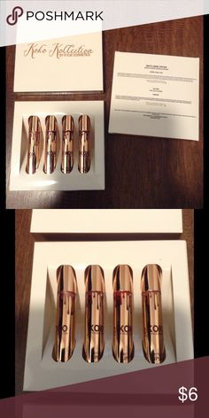 Koko kollection by Kylie Jenner, NEW 💄💄PLEASE READ DESCRIPTION💄💄The Koko kollection by Kylie Jenner kits were purchased from a mixed lot liquidation auction. All items are being sold AS IS !! Items may have imperfections. I do not have receipts and cannot verify products authenticity. This set comes with 4 shades, OKURRR, KHLO$, GORG and DAMN GINA. Each item is in excellent condition. Each item is brand new and never used! I will ship on the same/next day of purchase. Kylie Cosmetics…