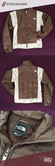 THE NORTH FACE Zip-In Insulated Jacket The North Face. Size: XS. Brown and White colors. BRAND NEW WITHOUT TAGS, never worn. Zip-in insulated jacket, compatible with North Face cold weather jackets, or wearable individually. Functional pockets. Elastic waistband and wrist openings. Terribly comfortable. The North Face Jackets & Coats