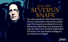 The Dark Mark has been raised and I'm Severus Snape! Which Death Eater are you? #ZimbioQuiz #HarryPotternull - Quiz