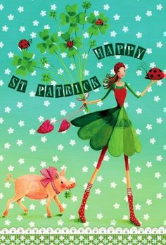 Happy st. Patrick's day! artist Illustration by www.MilaMarquis.com and www.Facebook.com/MilaMarquisillustration