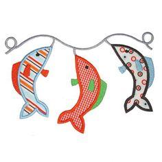Applique Only :: Fish Stringer Applique - Embroidery Boutique