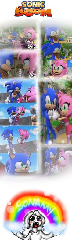 .:.Sonic Boom-SonAmy Moments.:. by RannaNeko on deviantART