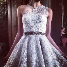 One shoulder lace. @theromonakeveza #bridalmarket
