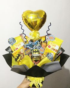 Snack bouquet Batman theme for birthday