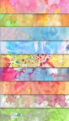 Hand painted watercolor textures.