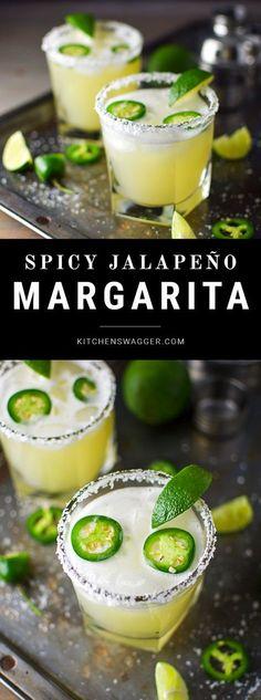 Margarita made with jalapeño, lime, honey and elderflower liqueur.