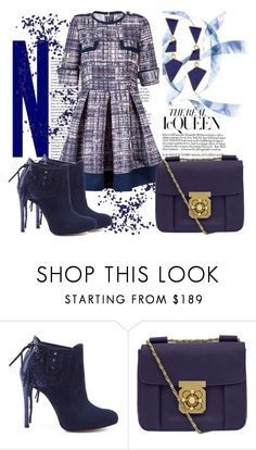 """Navy power"" by ula-mansfeld ❤ liked on Polyvore featuring Schutz, Chloé and Kenneth Jay Lane"