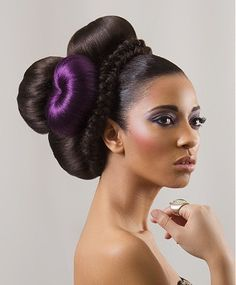 long black straight relaxed ethnic coloured multi-tonal scultptured updo hairstyles for women    HAIR TIPS, TRENDS AND HAIRSTYLES VISIT  WWW.UKHAIRDRESSERS.COM