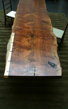 A slab table - also a cool idea, so long as it's more scrap wood than more wood being cut