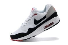 Bueno Nike Air Max 1 Blanco Negro Hombre Zapatillas,  black and white air max. fashion and classic shoes for men