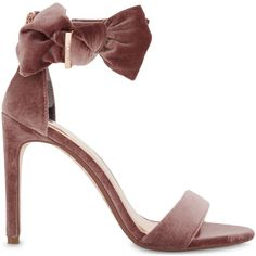 895bffee1a7 TED BAKER Torabel bow detail leather sandals ( 175) ❤ liked on Polyvore  featuring shoes
