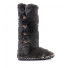 Buy Grace Ladies Classic Faux Fur Buy Grace Ladies Classic Faux Fur Charcoal knee length Slipper Boots at Bedroom Athletics - Quality designer knee length slippers with buttons for women in a range of colours & sizes Slipper Boots, Womens Slippers, Faux Fur, Charcoal, Socks, Autumn, Classic, Winter, Stuff To Buy