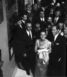 Audrey Hepburn and Mel Ferrer at the premiere of The Nun's Story in Rome, My Fair Lady, Classic Hollywood, Old Hollywood, The Nun's Story, Rome, Audrey Hepburn Movies, Givenchy, Ferrat, S Stories