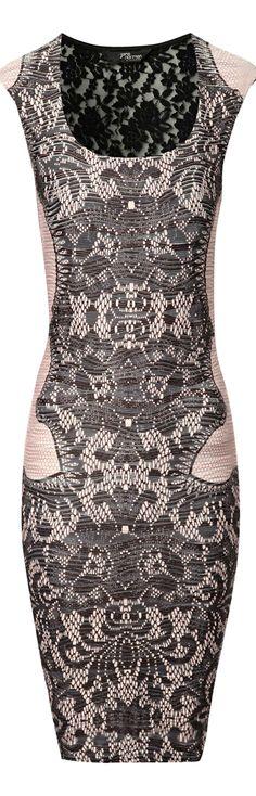 Jane Norman ● Lace Print Dress